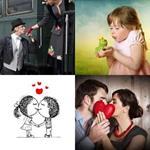 4 Bilder 1 Wort 6 Buchstaben KÜSSEN