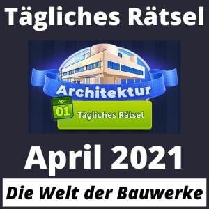 Tägliches Rätsel April 2021 Architektur 4 bilder 1 wort