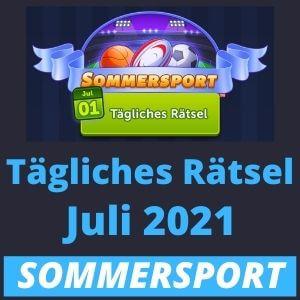 Tägliches Rätsel Juli 2021 Sommersport