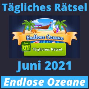 Tägliches Rätsel Juni 2021 Endlose Ozeane